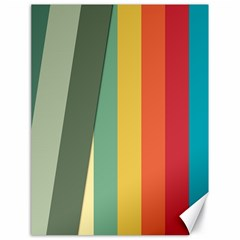 Texture Stripes Lines Color Bright Canvas 18  X 24   by Simbadda