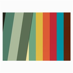 Texture Stripes Lines Color Bright Large Glasses Cloth by Simbadda