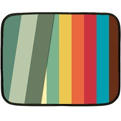 Texture Stripes Lines Color Bright Fleece Blanket (mini) by Simbadda