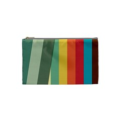 Texture Stripes Lines Color Bright Cosmetic Bag (small)  by Simbadda