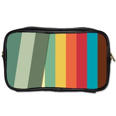 Texture Stripes Lines Color Bright Toiletries Bags 2 Side by Simbadda