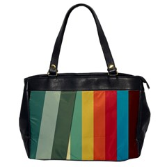 Texture Stripes Lines Color Bright Office Handbags by Simbadda