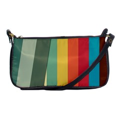 Texture Stripes Lines Color Bright Shoulder Clutch Bags by Simbadda