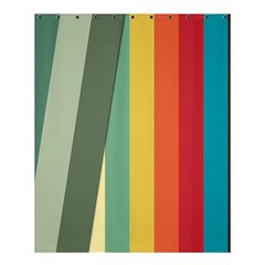 Texture Stripes Lines Color Bright Shower Curtain 60  X 72  (medium)  by Simbadda