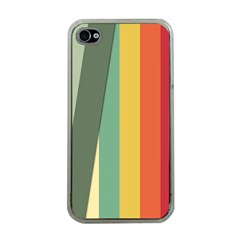 Texture Stripes Lines Color Bright Apple Iphone 4 Case (clear) by Simbadda