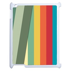 Texture Stripes Lines Color Bright Apple Ipad 2 Case (white) by Simbadda