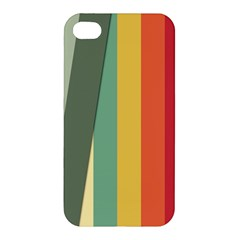 Texture Stripes Lines Color Bright Apple Iphone 4/4s Hardshell Case by Simbadda