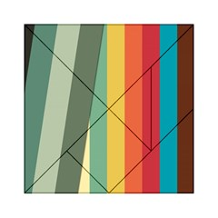 Texture Stripes Lines Color Bright Acrylic Tangram Puzzle (6  X 6 ) by Simbadda