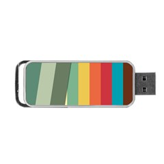 Texture Stripes Lines Color Bright Portable Usb Flash (one Side) by Simbadda