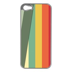 Texture Stripes Lines Color Bright Apple Iphone 5 Case (silver) by Simbadda