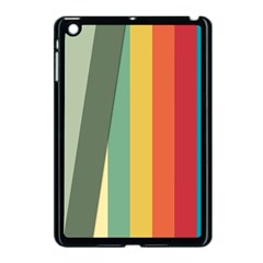 Texture Stripes Lines Color Bright Apple Ipad Mini Case (black) by Simbadda