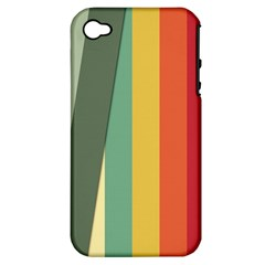 Texture Stripes Lines Color Bright Apple Iphone 4/4s Hardshell Case (pc+silicone) by Simbadda