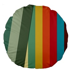 Texture Stripes Lines Color Bright Large 18  Premium Round Cushions by Simbadda