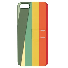 Texture Stripes Lines Color Bright Apple Iphone 5 Hardshell Case With Stand by Simbadda
