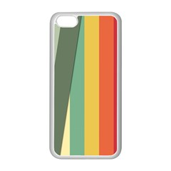 Texture Stripes Lines Color Bright Apple Iphone 5c Seamless Case (white) by Simbadda