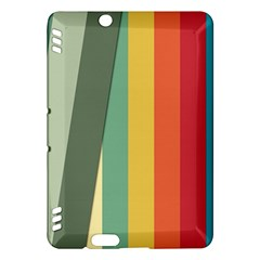 Texture Stripes Lines Color Bright Kindle Fire Hdx Hardshell Case by Simbadda