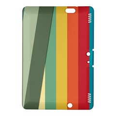 Texture Stripes Lines Color Bright Kindle Fire Hdx 8 9  Hardshell Case by Simbadda