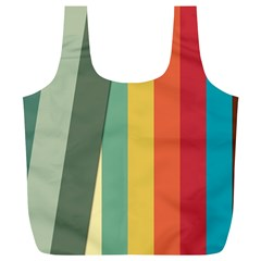 Texture Stripes Lines Color Bright Full Print Recycle Bags (l)