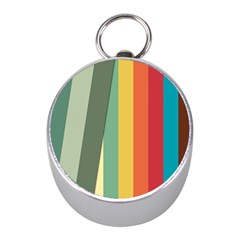 Texture Stripes Lines Color Bright Mini Silver Compasses by Simbadda