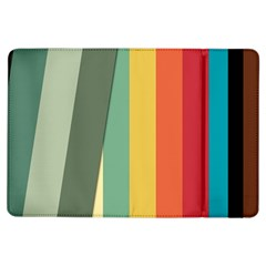Texture Stripes Lines Color Bright Ipad Air Flip by Simbadda