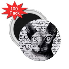 Sphynx Cat 2 25  Magnets (100 Pack)  by Valentinaart