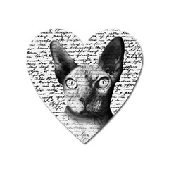 Sphynx Cat Heart Magnet by Valentinaart