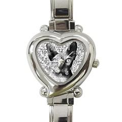 Sphynx Cat Heart Italian Charm Watch by Valentinaart