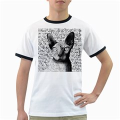 Sphynx Cat Ringer T Shirts by Valentinaart