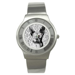 Sphynx Cat Stainless Steel Watch by Valentinaart