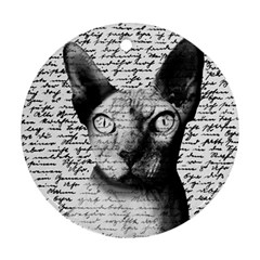 Sphynx Cat Round Ornament (two Sides) by Valentinaart