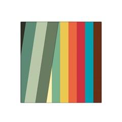 Texture Stripes Lines Color Bright Satin Bandana Scarf by Simbadda