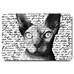 Sphynx Cat Large Doormat  by Valentinaart