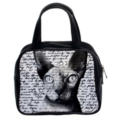 Sphynx Cat Classic Handbags (2 Sides) by Valentinaart