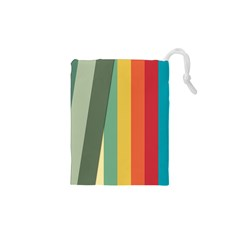 Texture Stripes Lines Color Bright Drawstring Pouches (xs)  by Simbadda