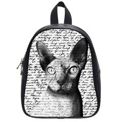 Sphynx Cat School Bags (small)  by Valentinaart