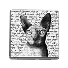 Sphynx Cat Memory Card Reader (square) by Valentinaart