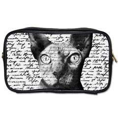 Sphynx Cat Toiletries Bags 2 Side by Valentinaart