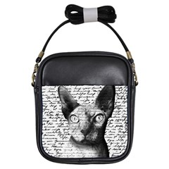 Sphynx Cat Girls Sling Bags by Valentinaart