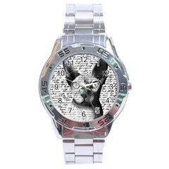 Sphynx Cat Stainless Steel Analogue Watch by Valentinaart
