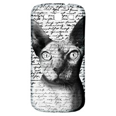 Sphynx Cat Samsung Galaxy S3 S Iii Classic Hardshell Back Case by Valentinaart