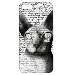 Sphynx Cat Apple Iphone 5 Hardshell Case With Stand by Valentinaart