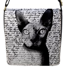 Sphynx Cat Flap Messenger Bag (s) by Valentinaart