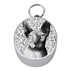 Sphynx Cat Mini Silver Compasses by Valentinaart
