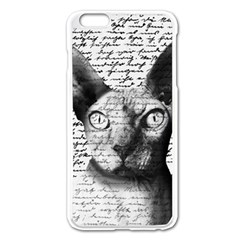 Sphynx Cat Apple Iphone 6 Plus/6s Plus Enamel White Case by Valentinaart