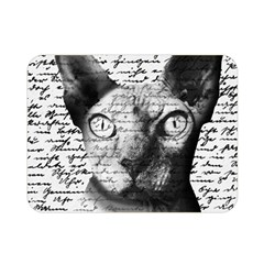 Sphynx Cat Double Sided Flano Blanket (mini)  by Valentinaart