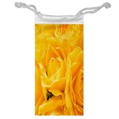 Yellow Neon Flowers Jewelry Bag by Simbadda