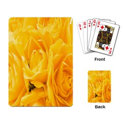 Yellow Neon Flowers Playing Card by Simbadda