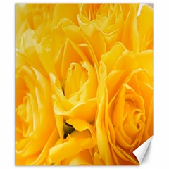 Yellow Neon Flowers Canvas 20  X 24   by Simbadda