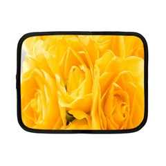 Yellow Neon Flowers Netbook Case (small)  by Simbadda
