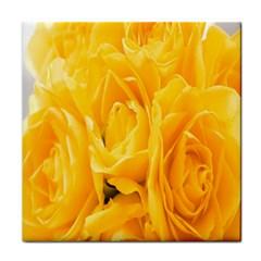 Yellow Neon Flowers Face Towel by Simbadda